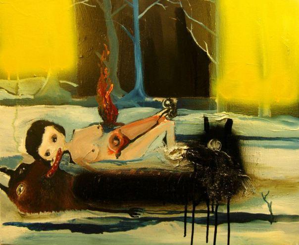 Silvia Argiolas painting
