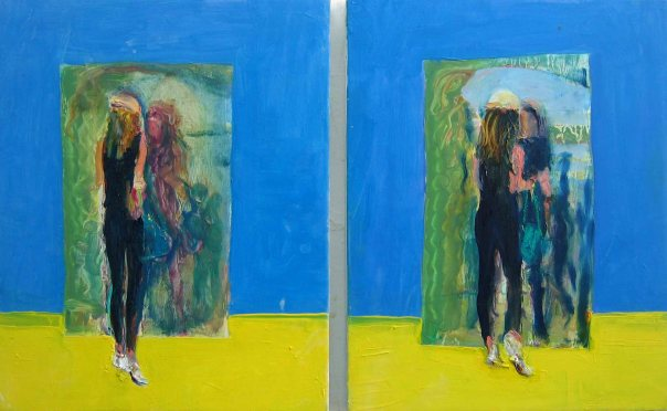 Cathy Lomax twin paintings