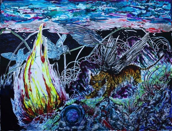 Sun Xun 孙逊 1980 peinture chinois contemporaine